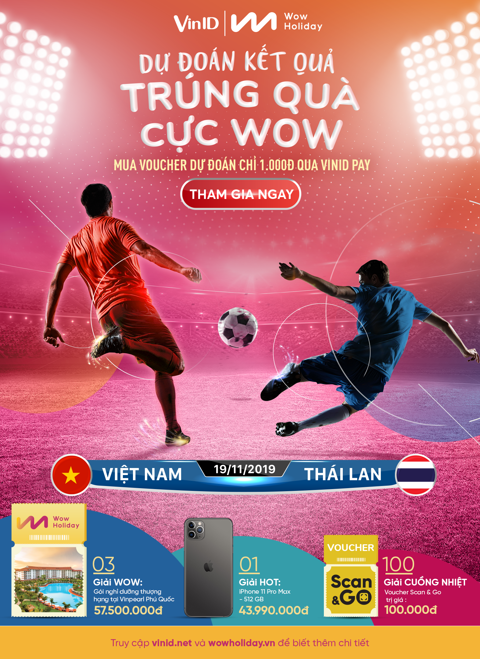Cùng WOWHOLIDAY dự đoán kết quả World Cup trên VinID để trúng ngay Voucher du lịch nghỉ dưỡng thượng hạng tại Vinpearl Phú Quốc - Ảnh 1.