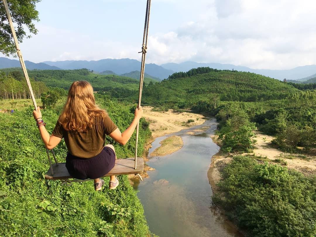 """Cần gì đến Bali, tại Việt Nam cũng có xích đu gỗ view trọn thung lũng tha hồ cho bạn """"thót tim"""" bay lượn! - Ảnh 12."""