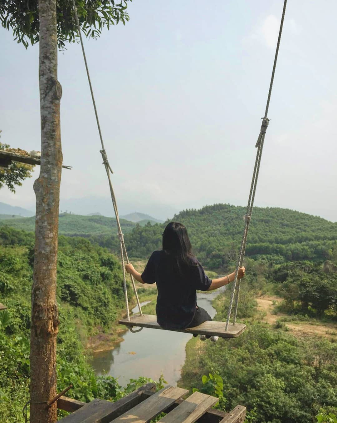 """Cần gì đến Bali, tại Việt Nam cũng có xích đu gỗ view trọn thung lũng tha hồ cho bạn """"thót tim"""" bay lượn! - Ảnh 28."""